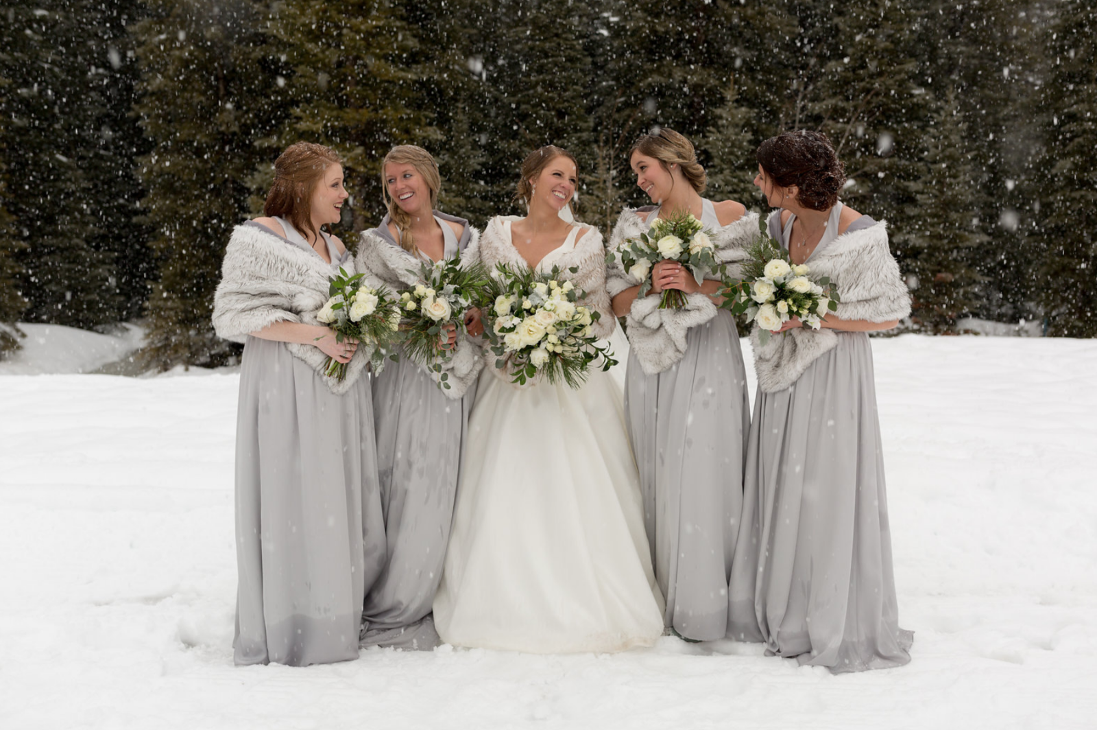Bridesmaids and Bride Flowers