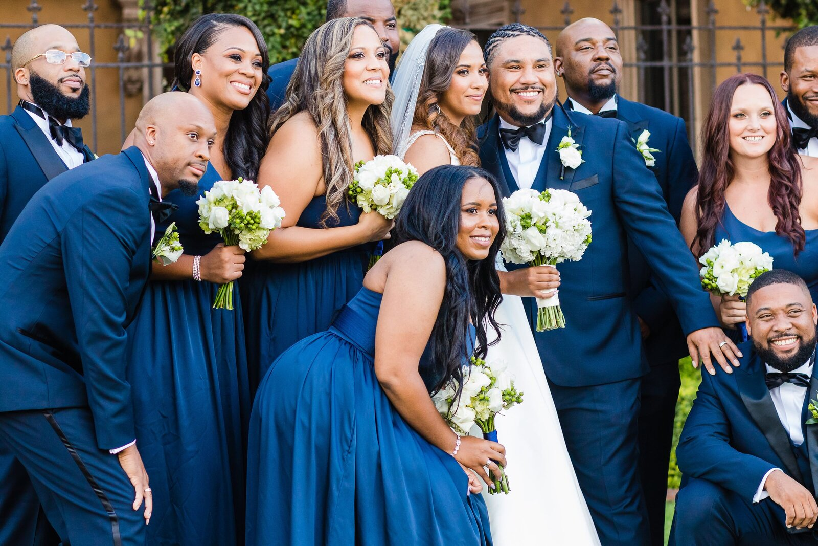 bridal-party-blue-suits-blue-dresses