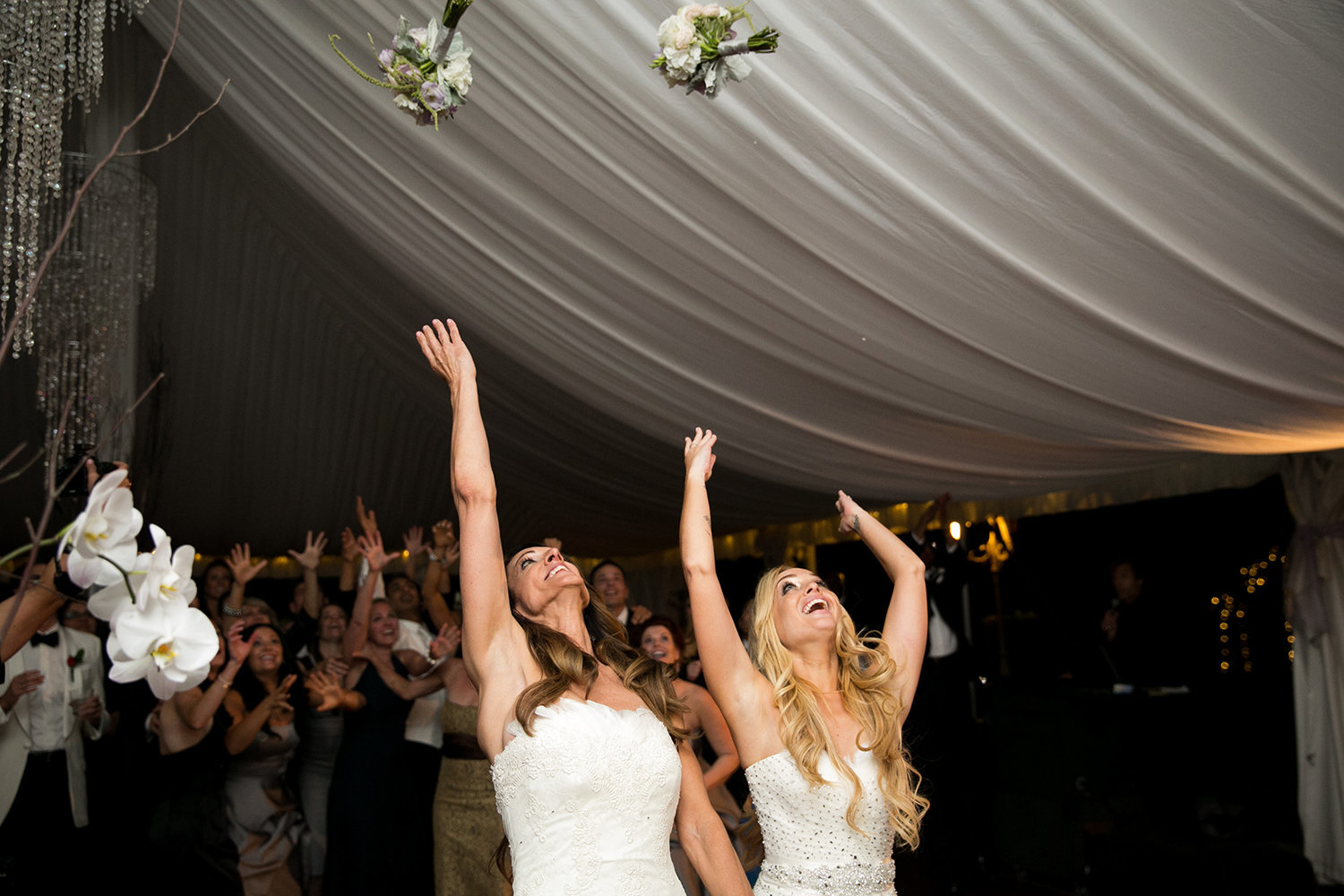 double bouquet toss