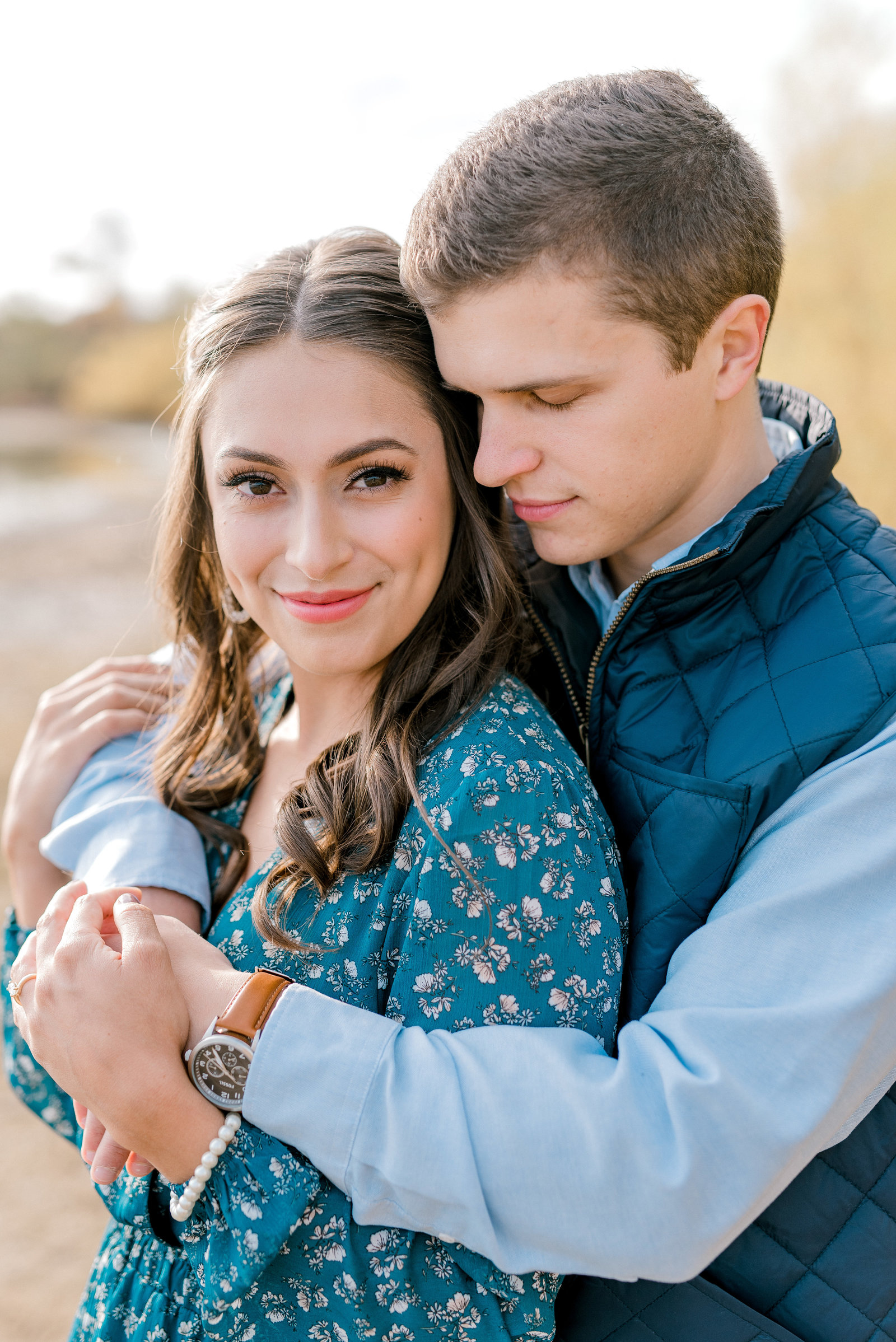 WNY Fall Engagement Session with Amazing Light