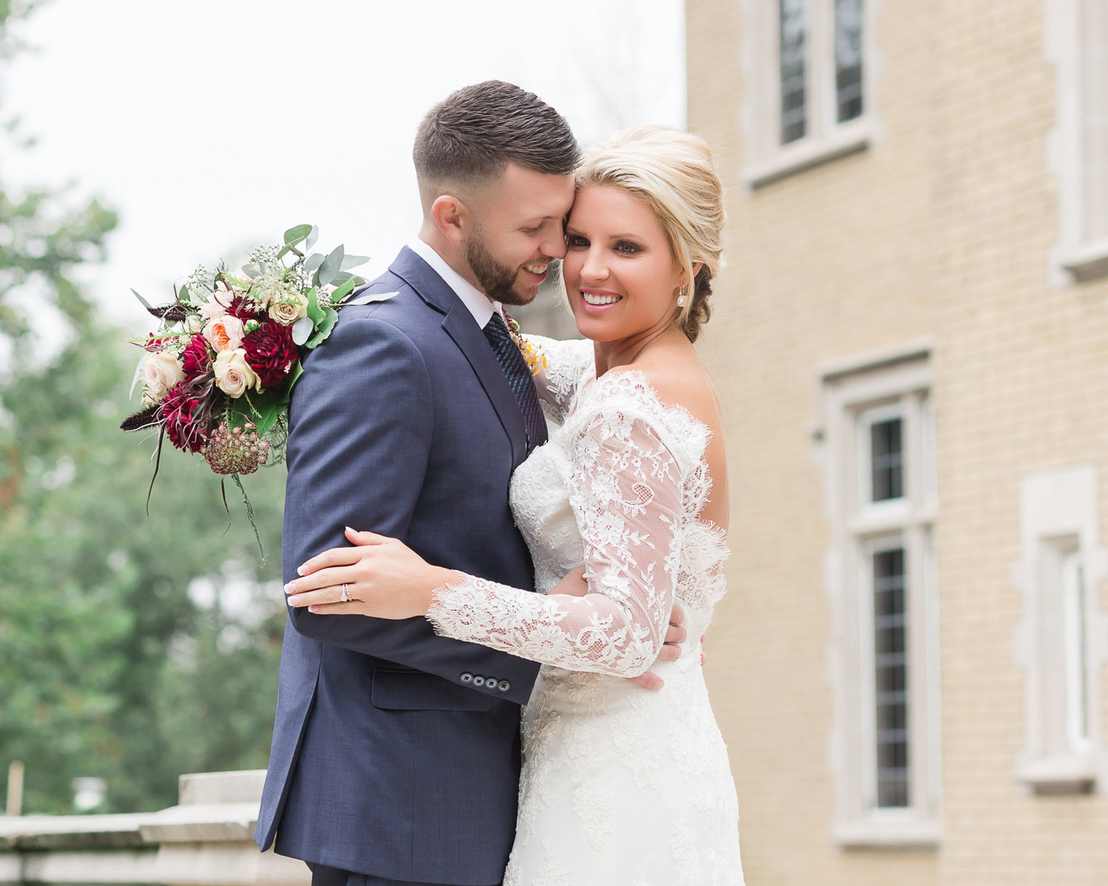 Indianapolis Laurel Hall bride and groom  photo by Simply Seeking Photography