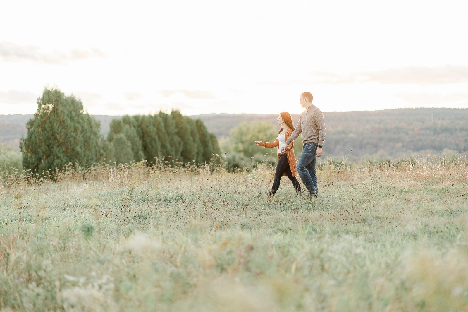 Light and Airy Engagement Session at ALyson's Orchard-3-2