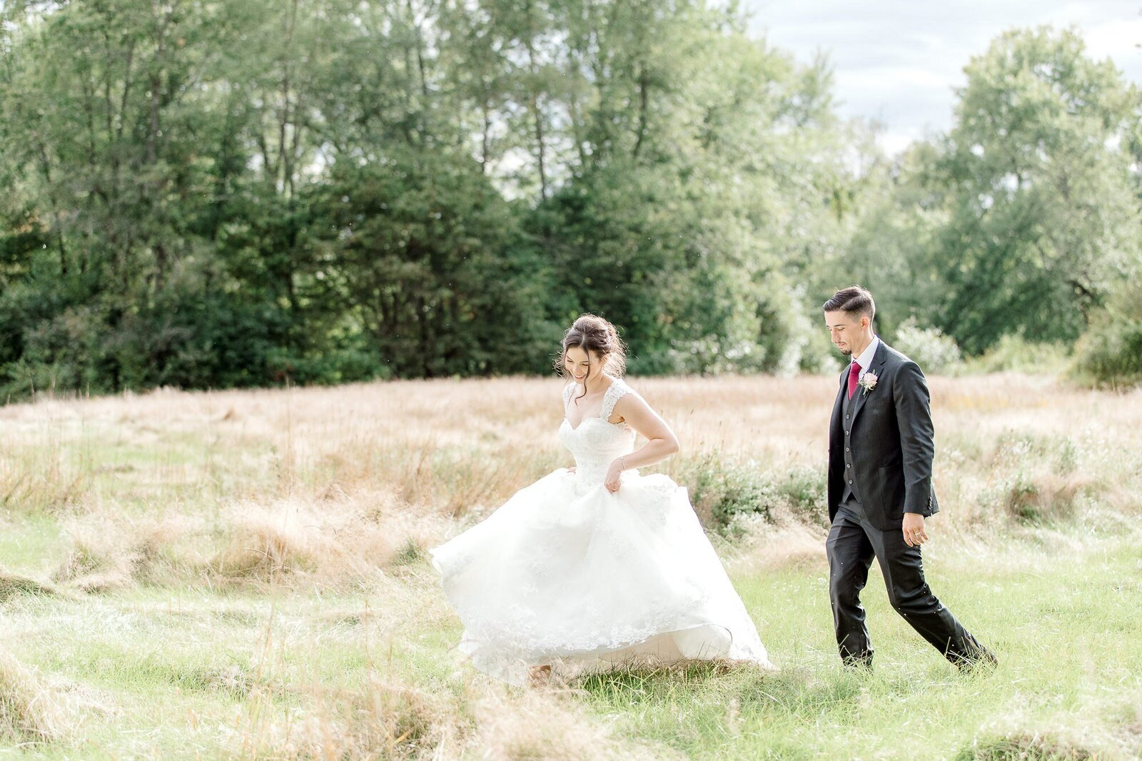 Light and Airy Keene NH Wedding -1-11