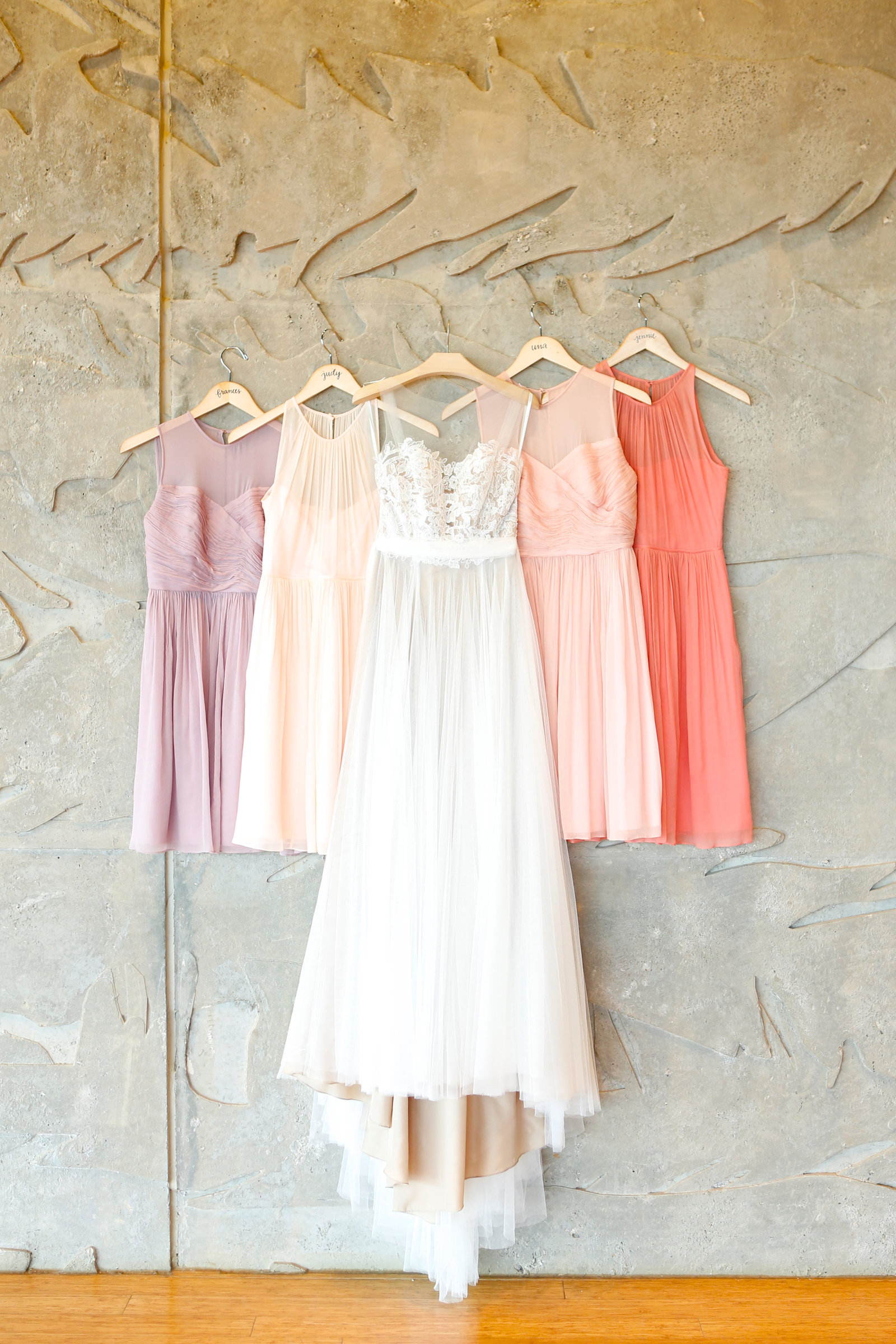 mismatched spring bridesmaids gowns from jcrew