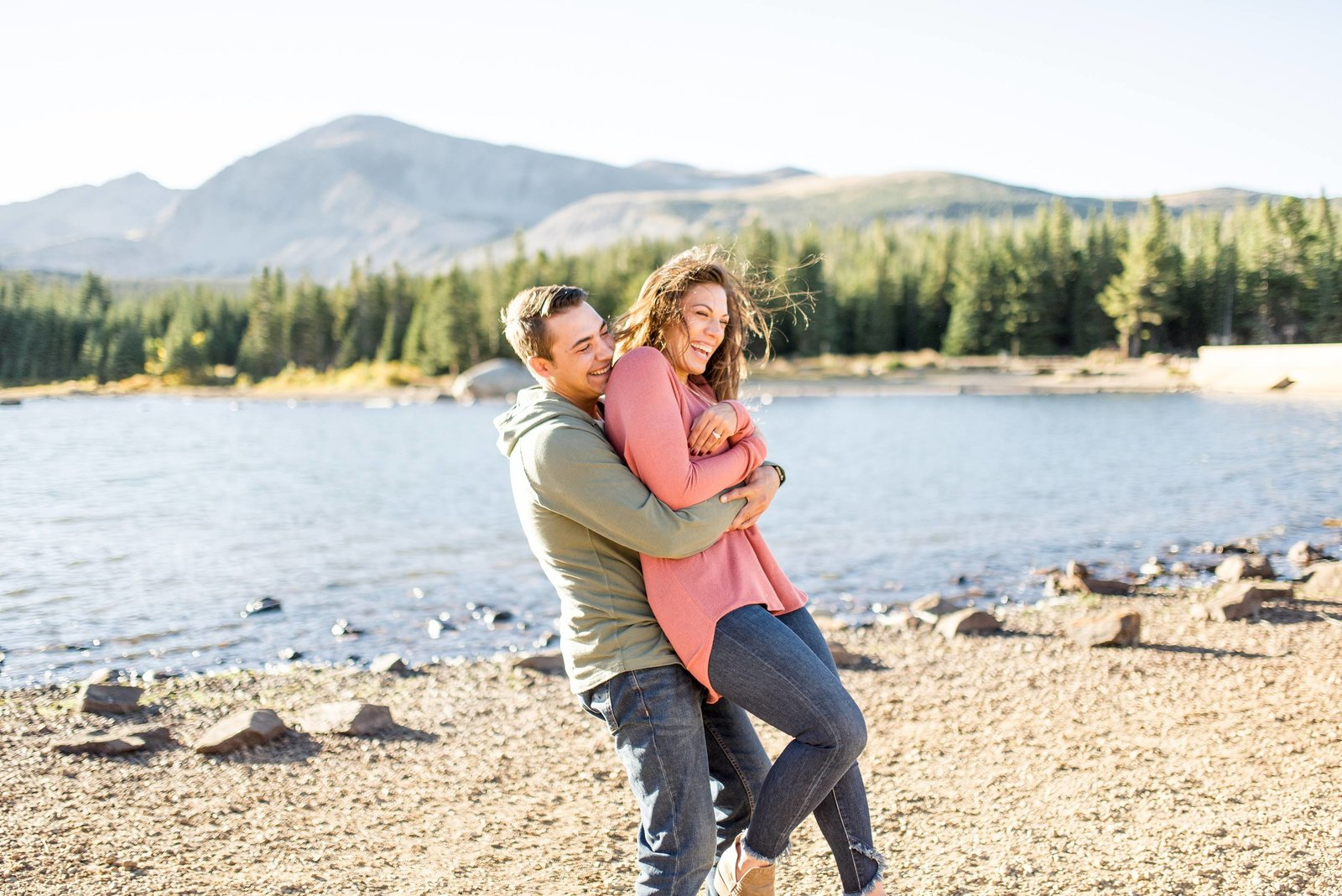 engagement portrait photographer near estes park colorado