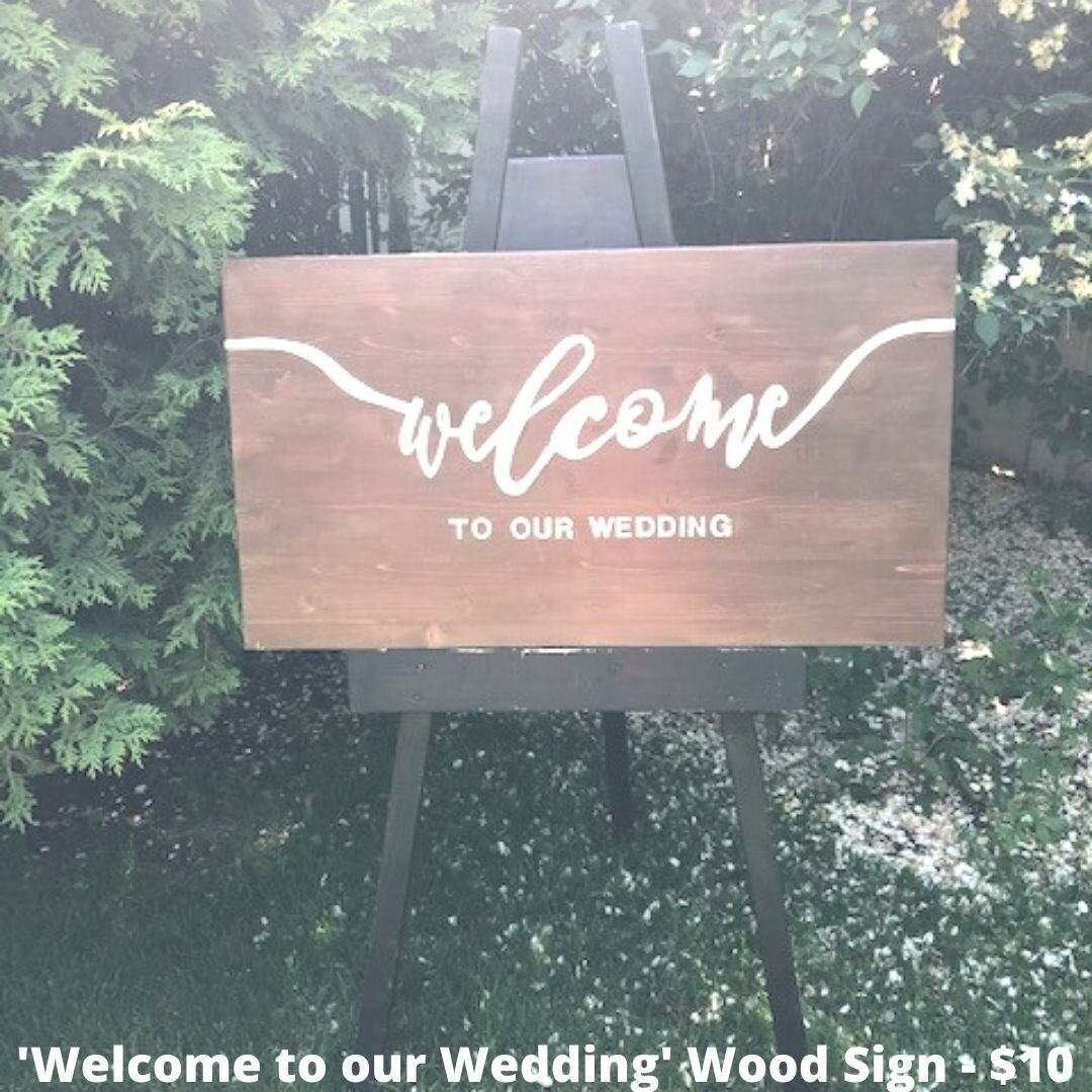 welcome wedding wood sign