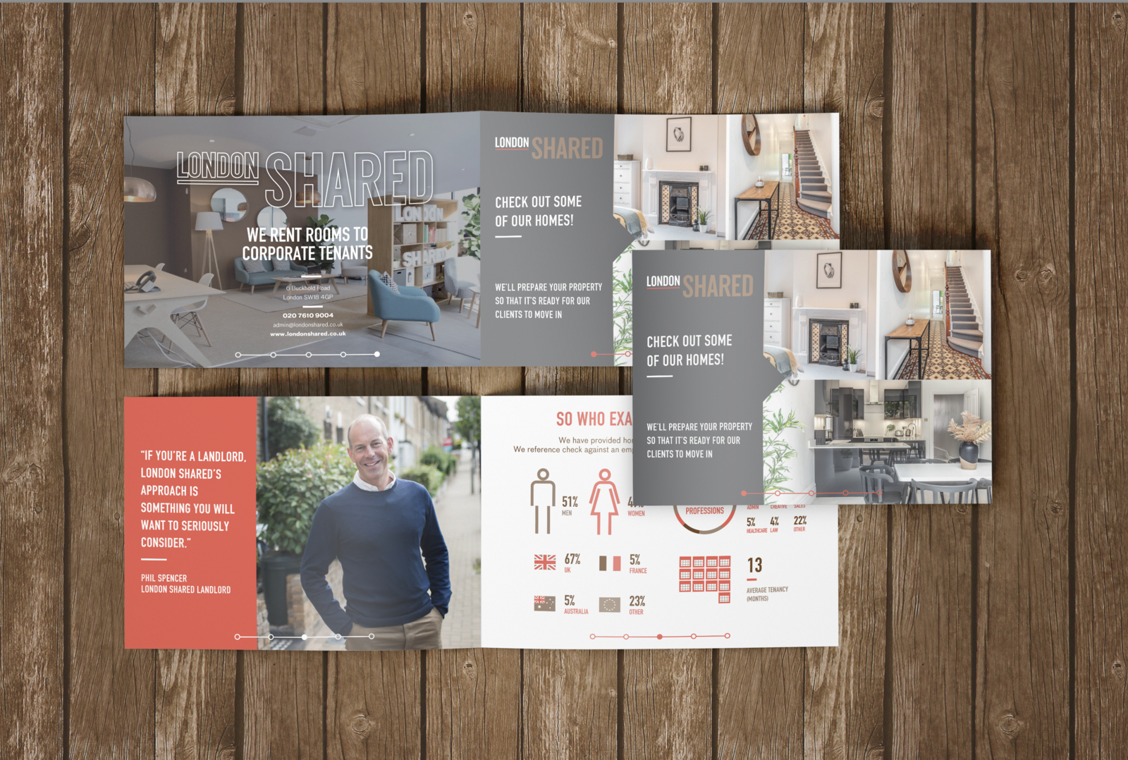 Modern catalogue and presentation for London Shared designed in worcestershire