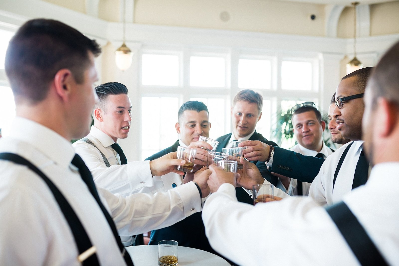M Harris Studios_Trump National Golf Club Wedding_groomsmen getting ready