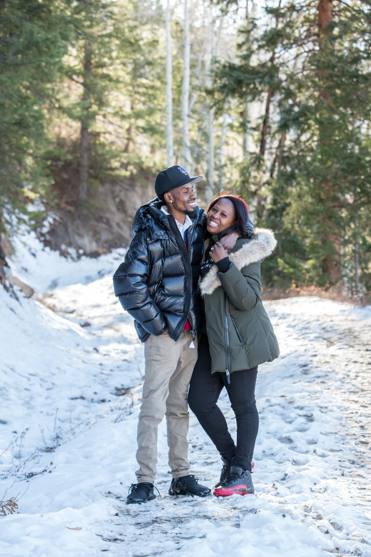 Colorado engagement photographer in Snowmass along the Ditch Trail