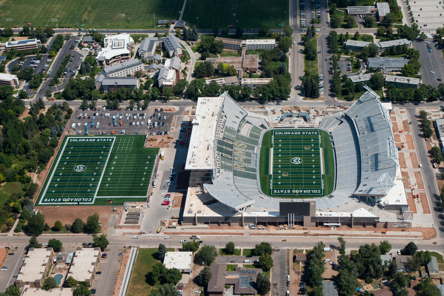 Colorado State Stadium Aerial Photo 10