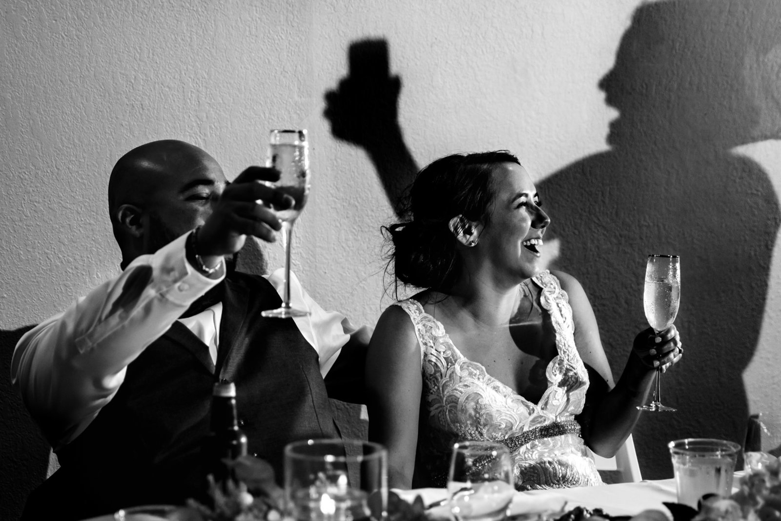 Maid of Honor Toasts the Bride and Groom in San Antonio
