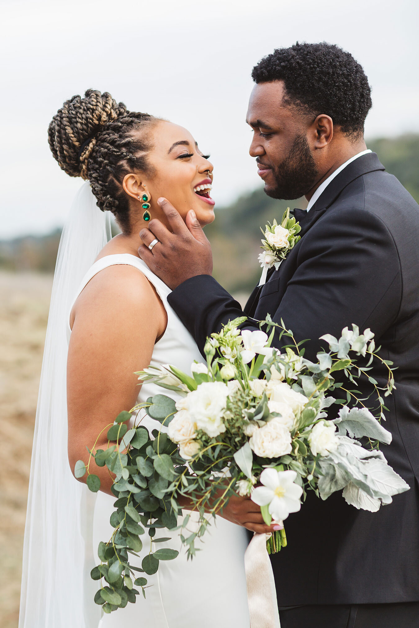 black couple engagement photography in los altos hills