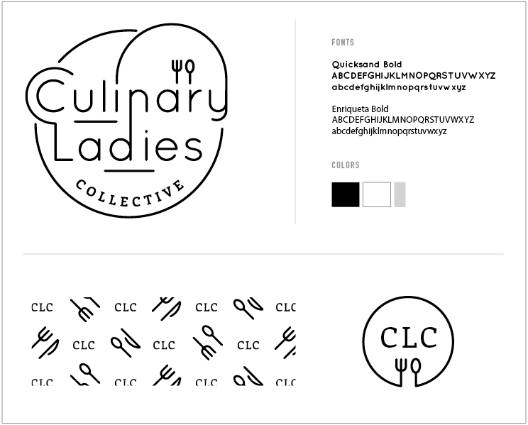 Logo and identity for Culinary Ladies Collective by Christie Evenson Design Co.