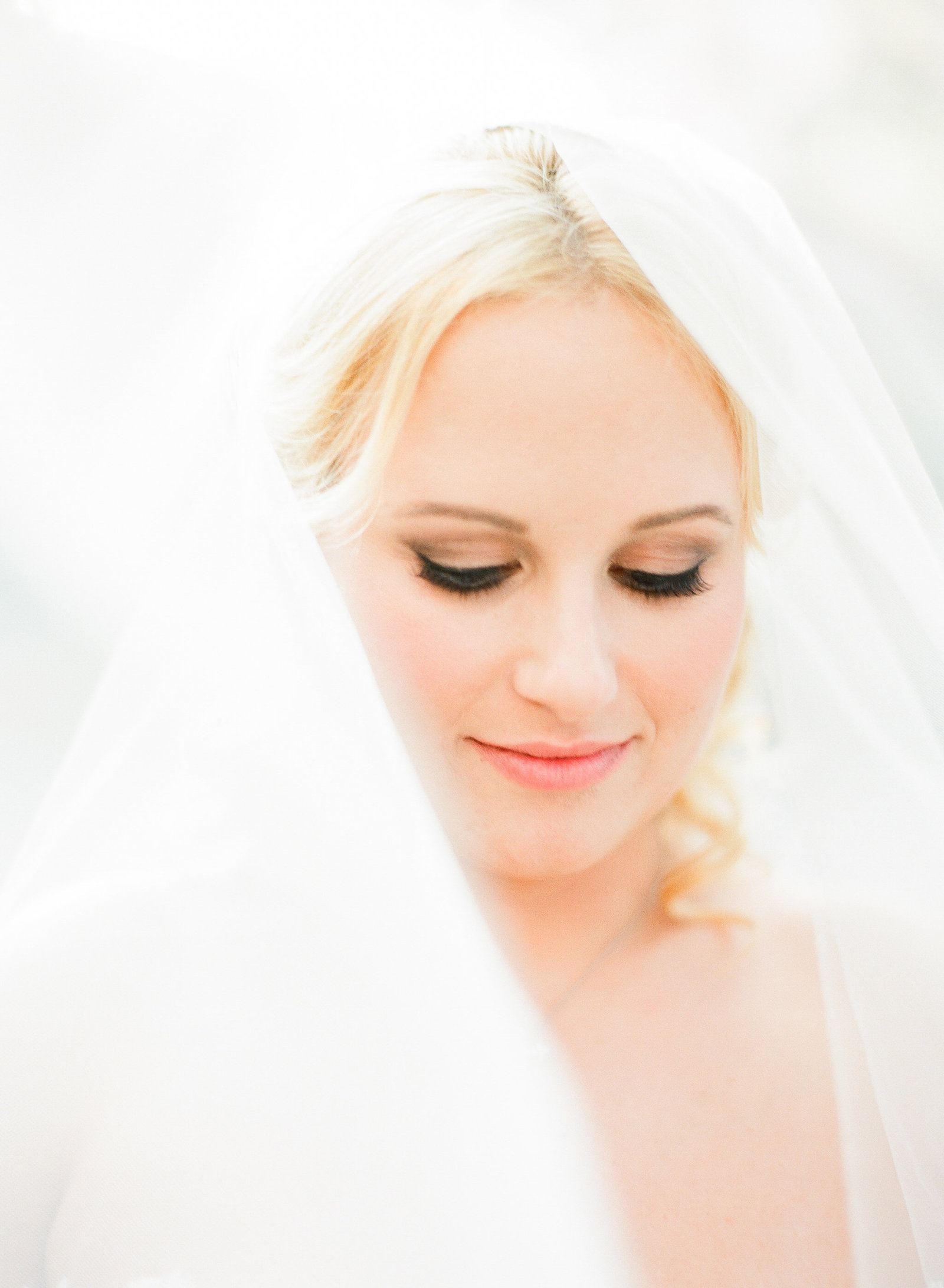 bride in highland park texas with classic hair and makeup