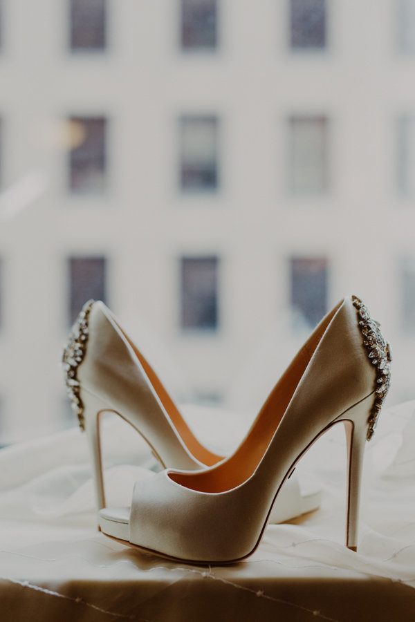 jeweled wedding high heels