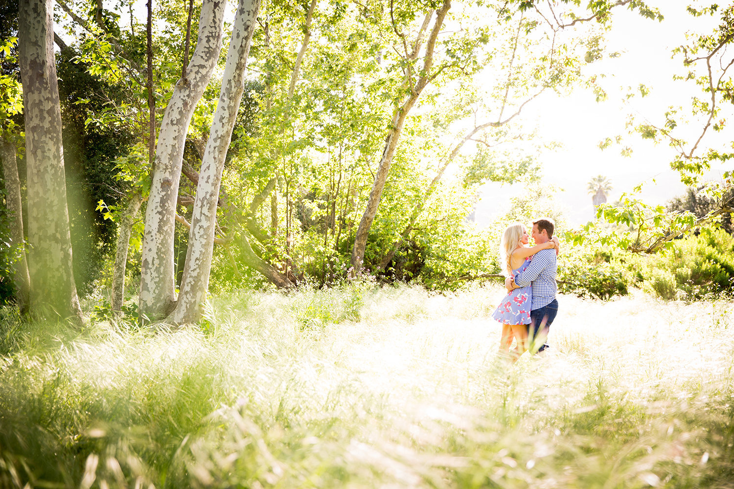 Mission Trails engagement photos beautiful rustic  open field