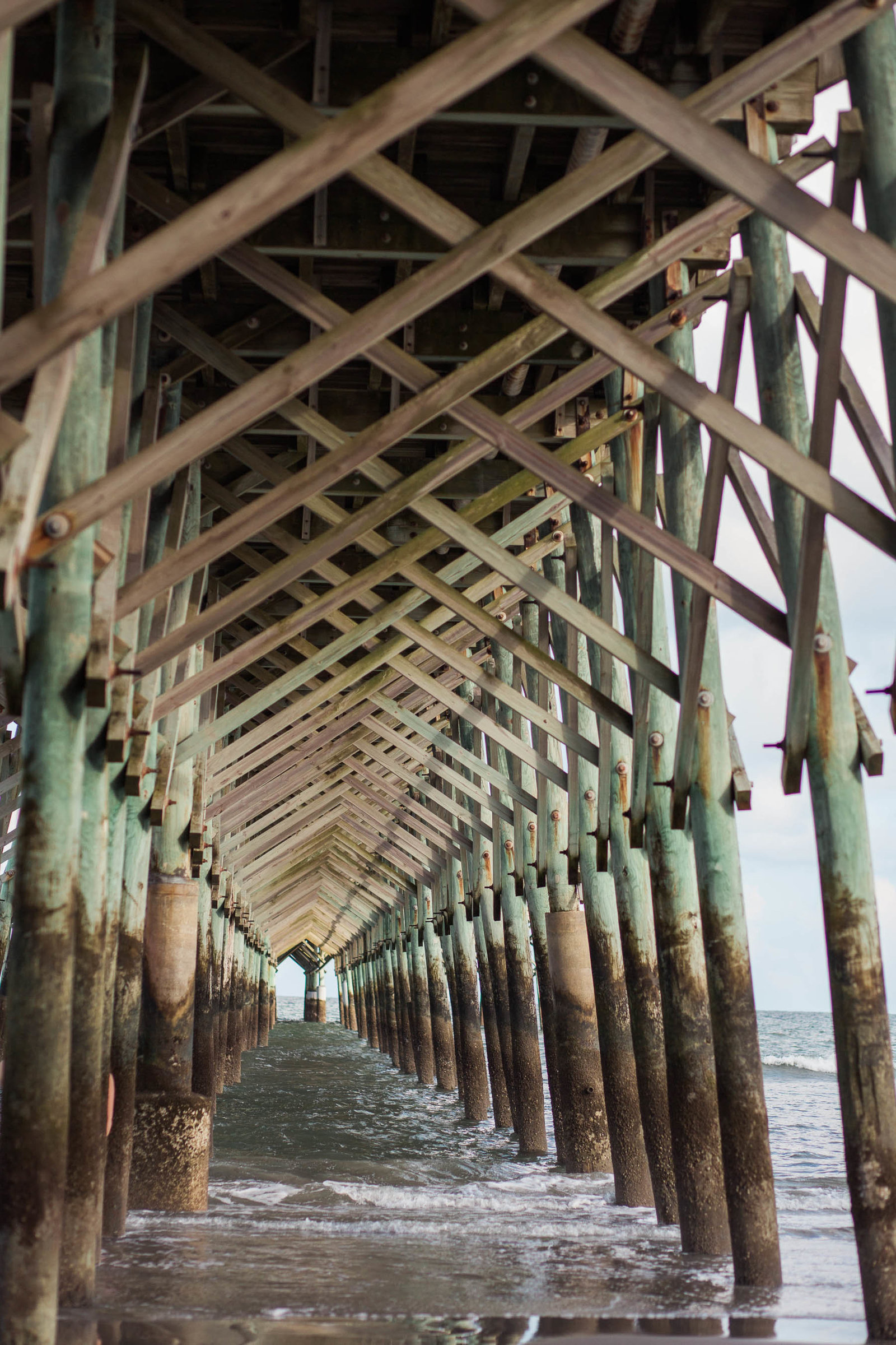 Fishing pier, Folly Beach, Charleston Wedding Photographer.