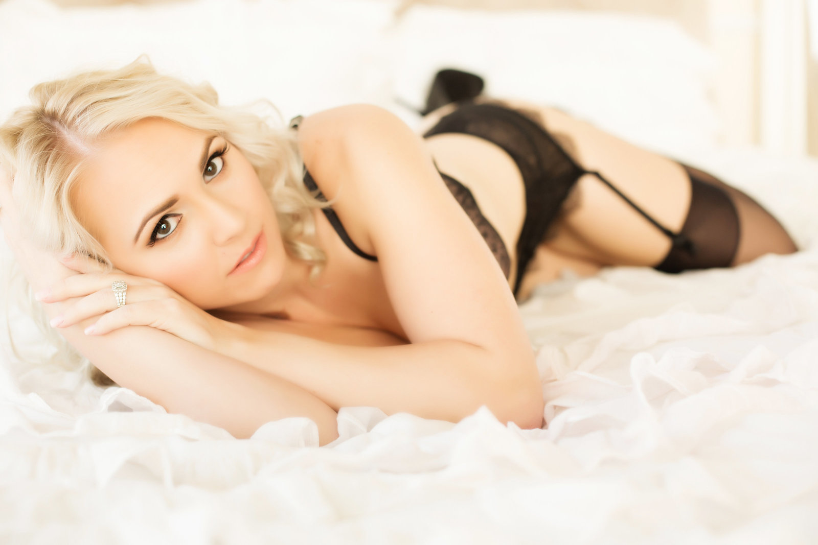 black lacey boudoir, blonde boudoir photos