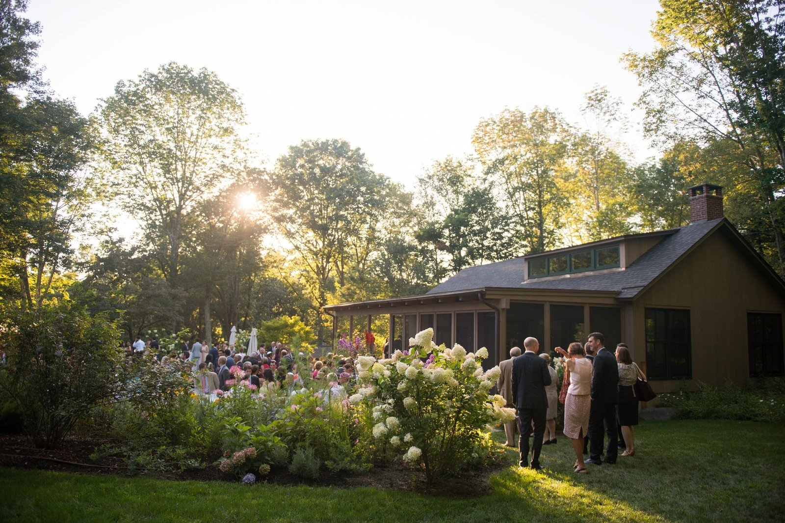 Gorgeous home wedding with modern elements in Washington, CT