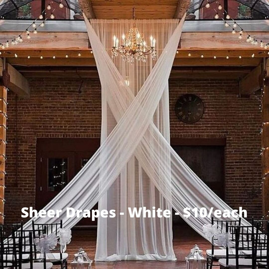 sheer white drape