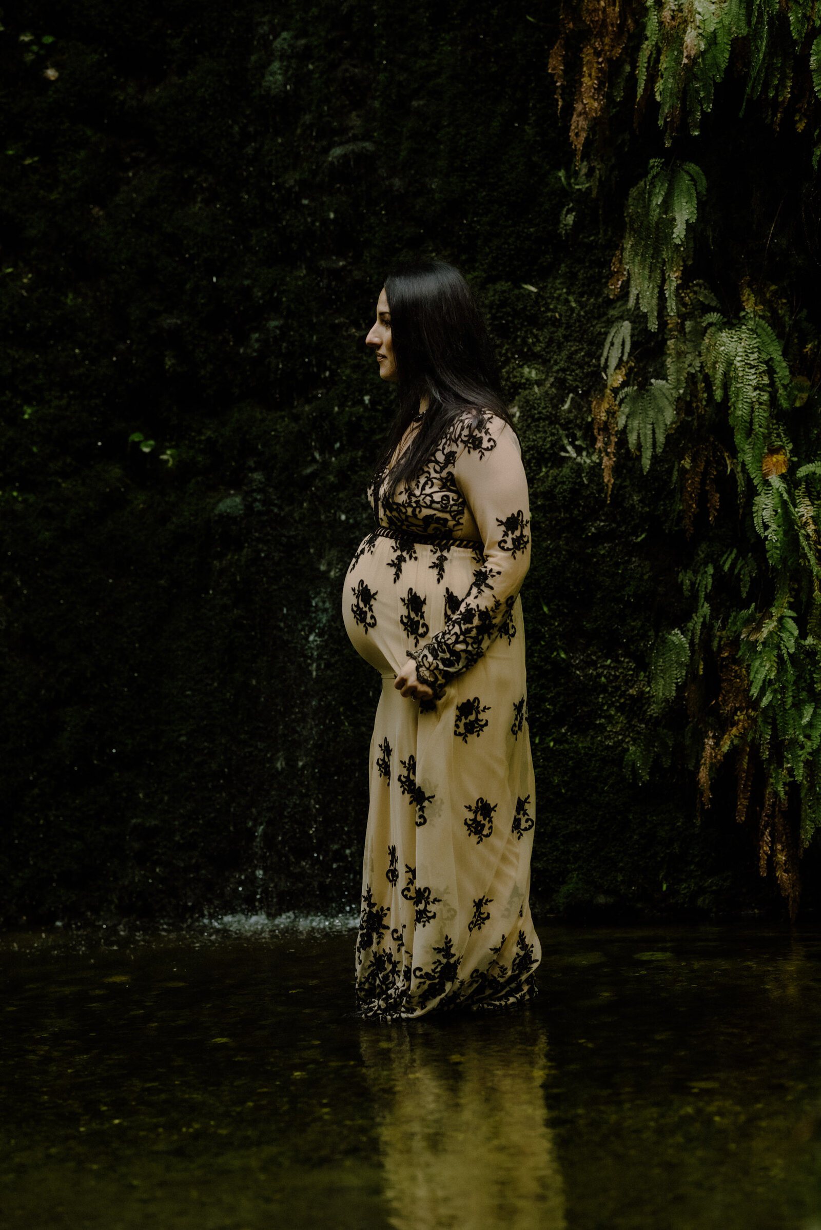 fern-canyon-maternity-waterfall-embroidered-gown