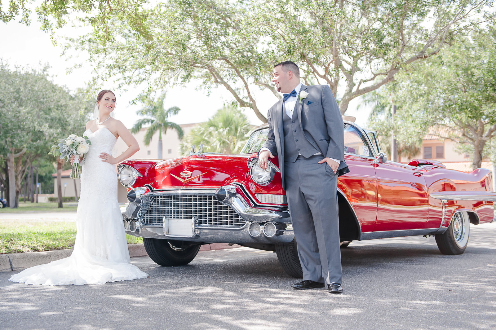 Red Classic Car Wedding - Country Club at Mirasol Wedding - Palm Beach Wedding Photography by Palm Beach Photography, Inc.