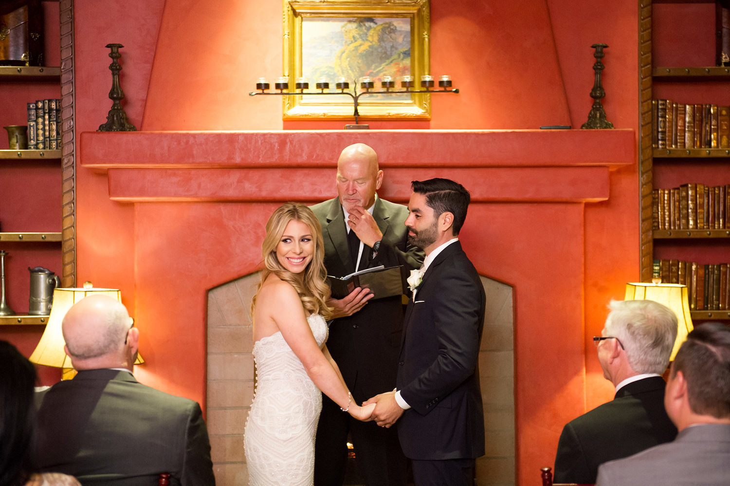 indoor ceremony at santa luz club