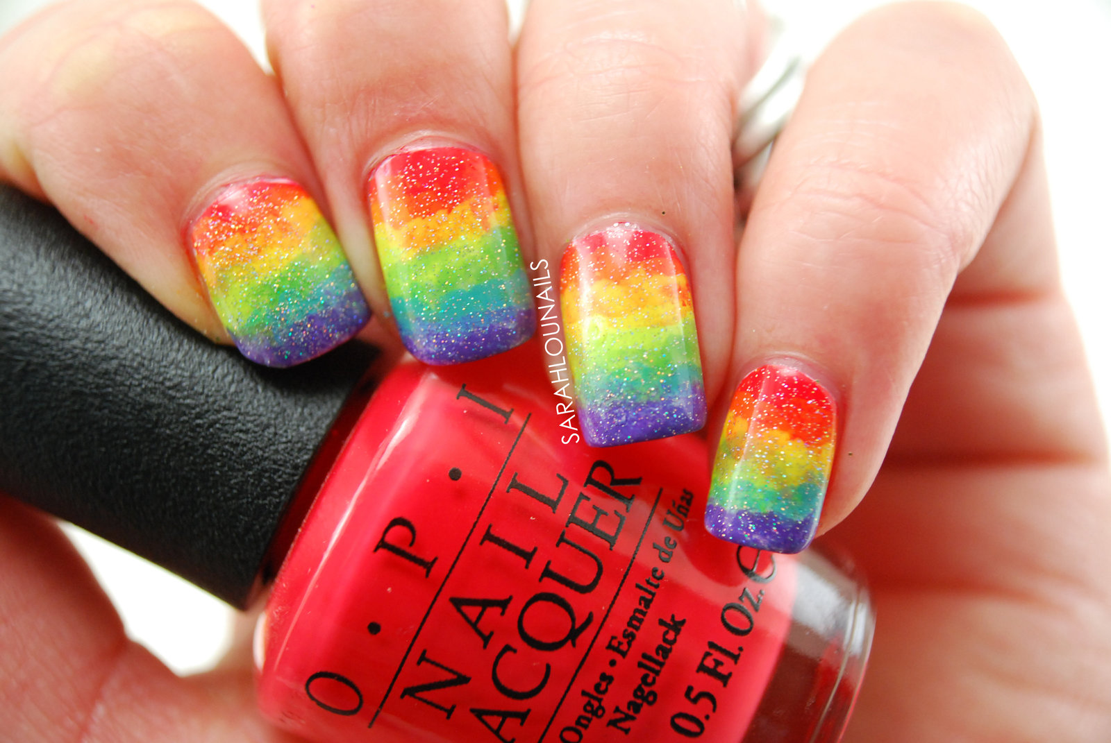 Rainbow Sponge Nails 007 copy