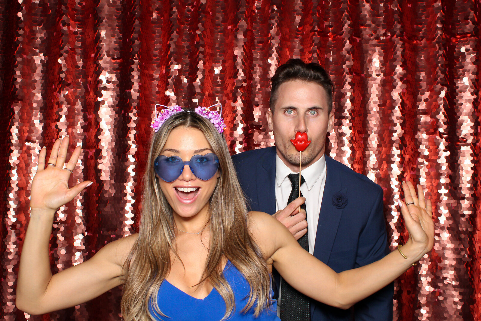 LOS GATOS DJ - Jess & Joe Nestldown Wedding - Wedding Guests in LG Photo Booth copy