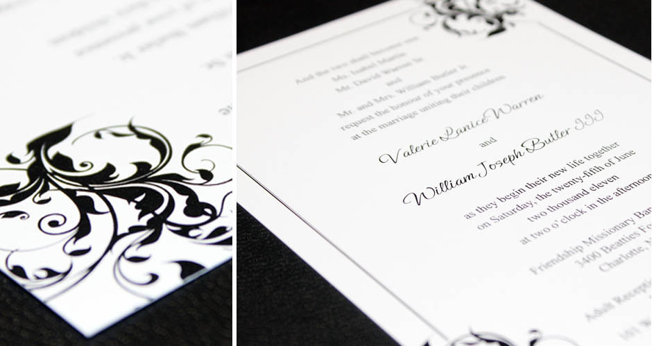 wedding invite + close | Jennifer Pellin