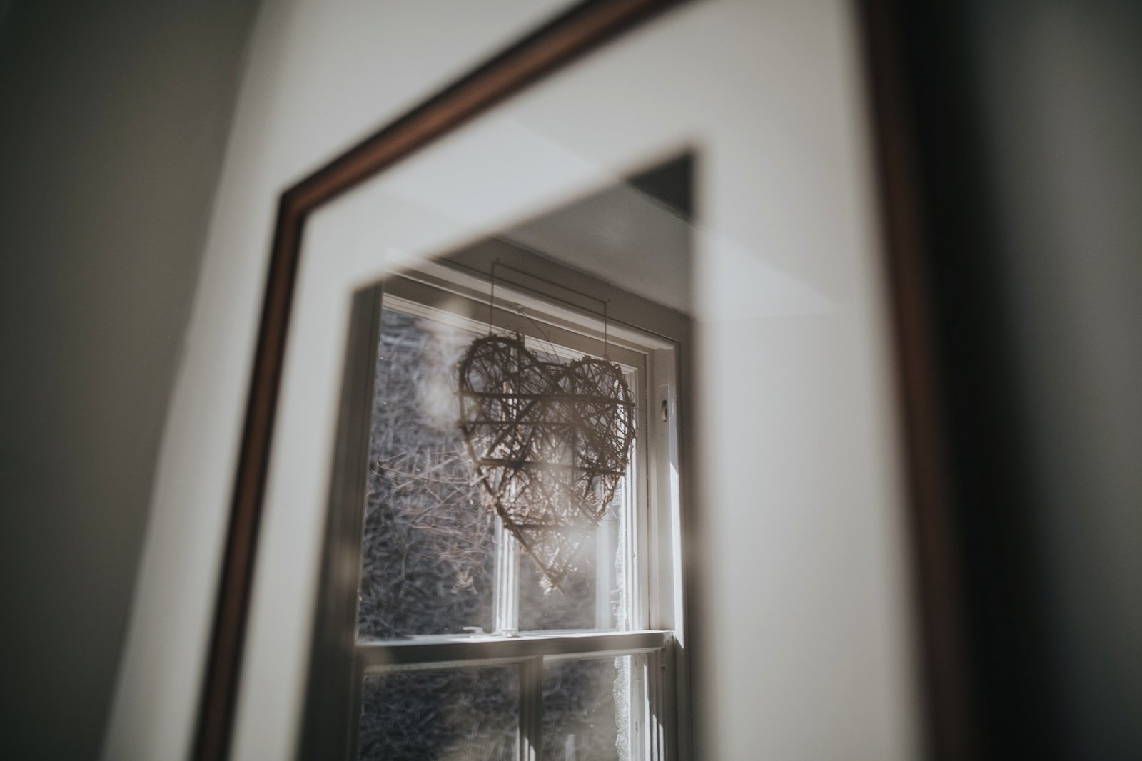 Decor reflected in picture's glass
