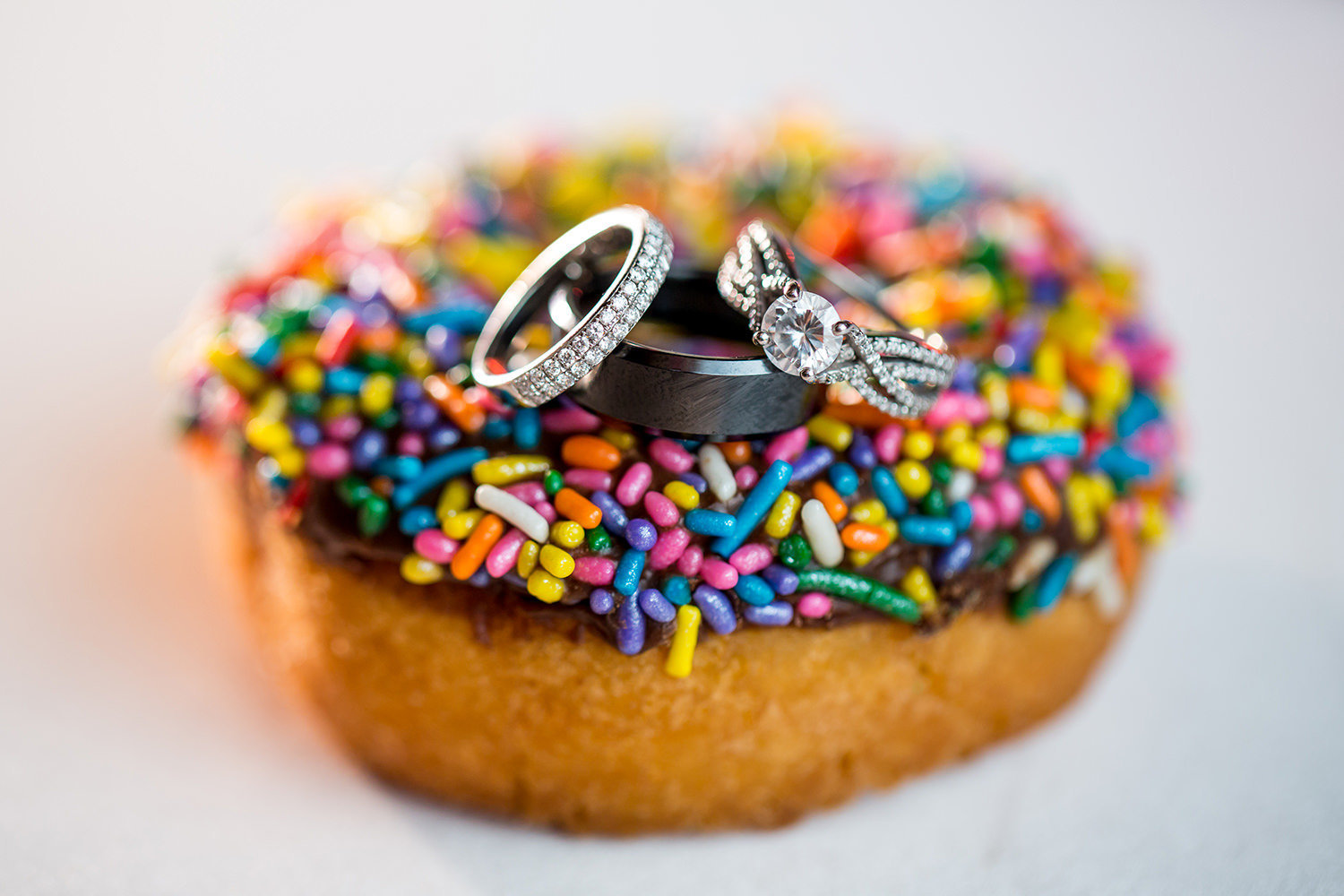 rings on a sprinkle donut