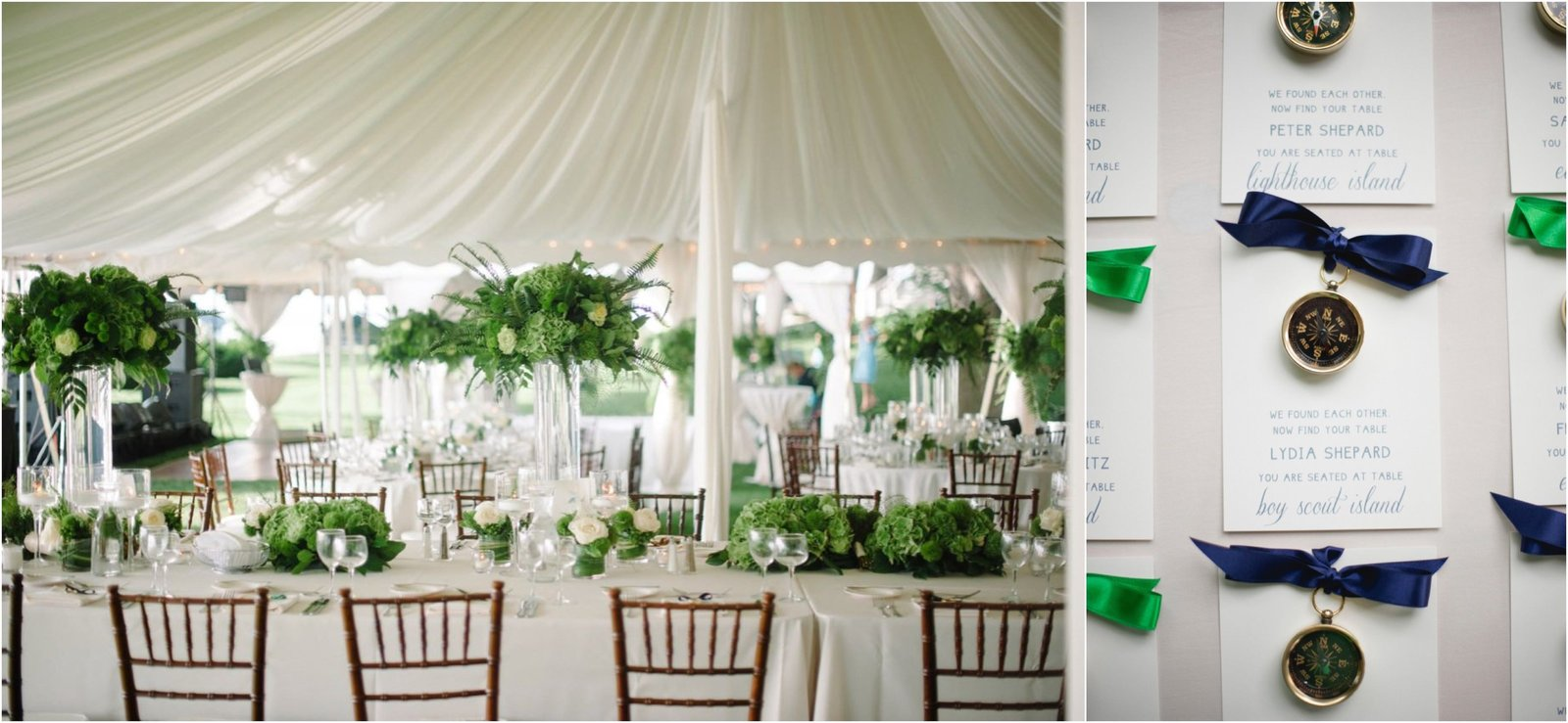 Outdoor tent wedding on Lake Minnetonka