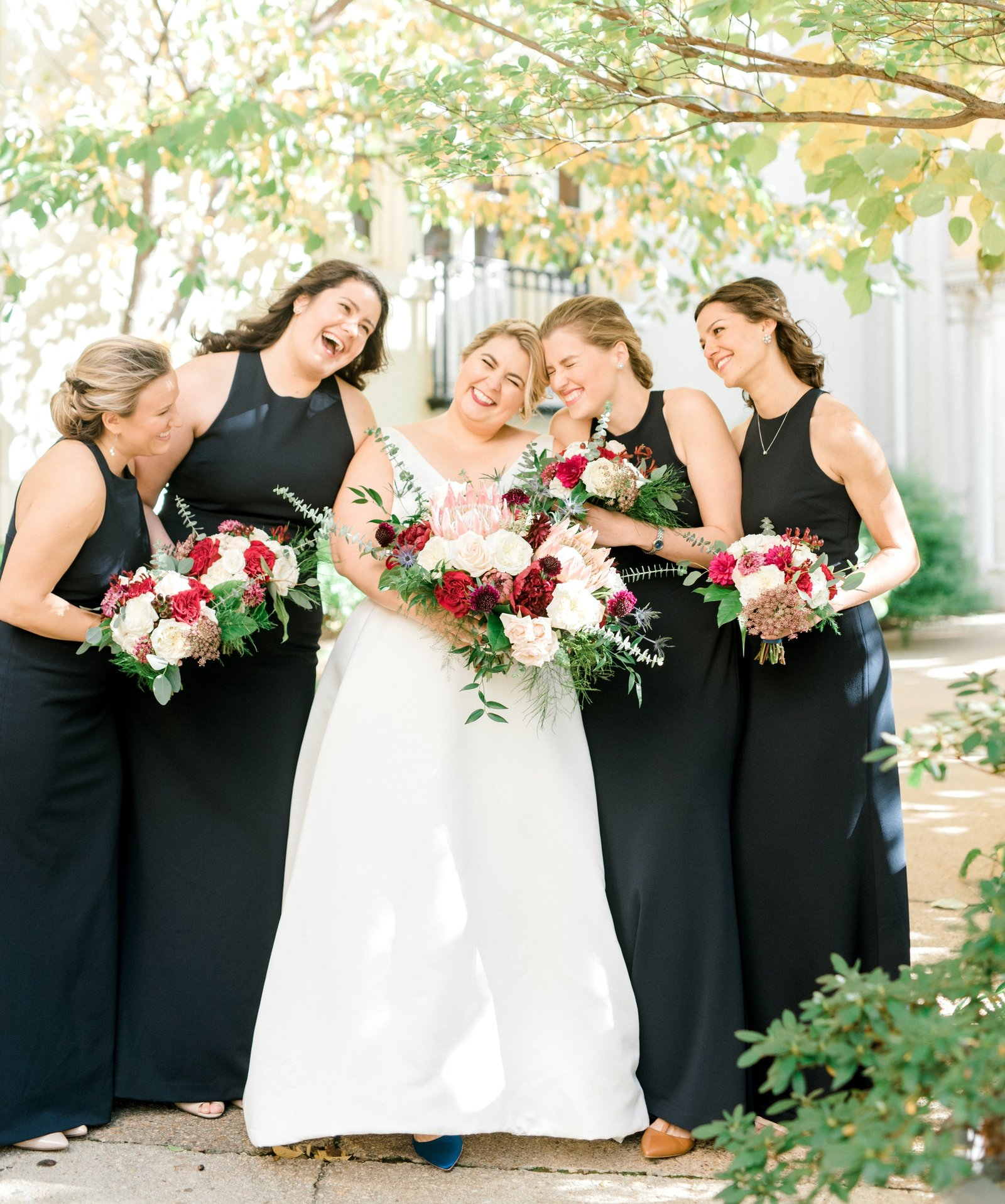 Bride and bridesmaids at Josephine Butler Parks Center in Washington, DC