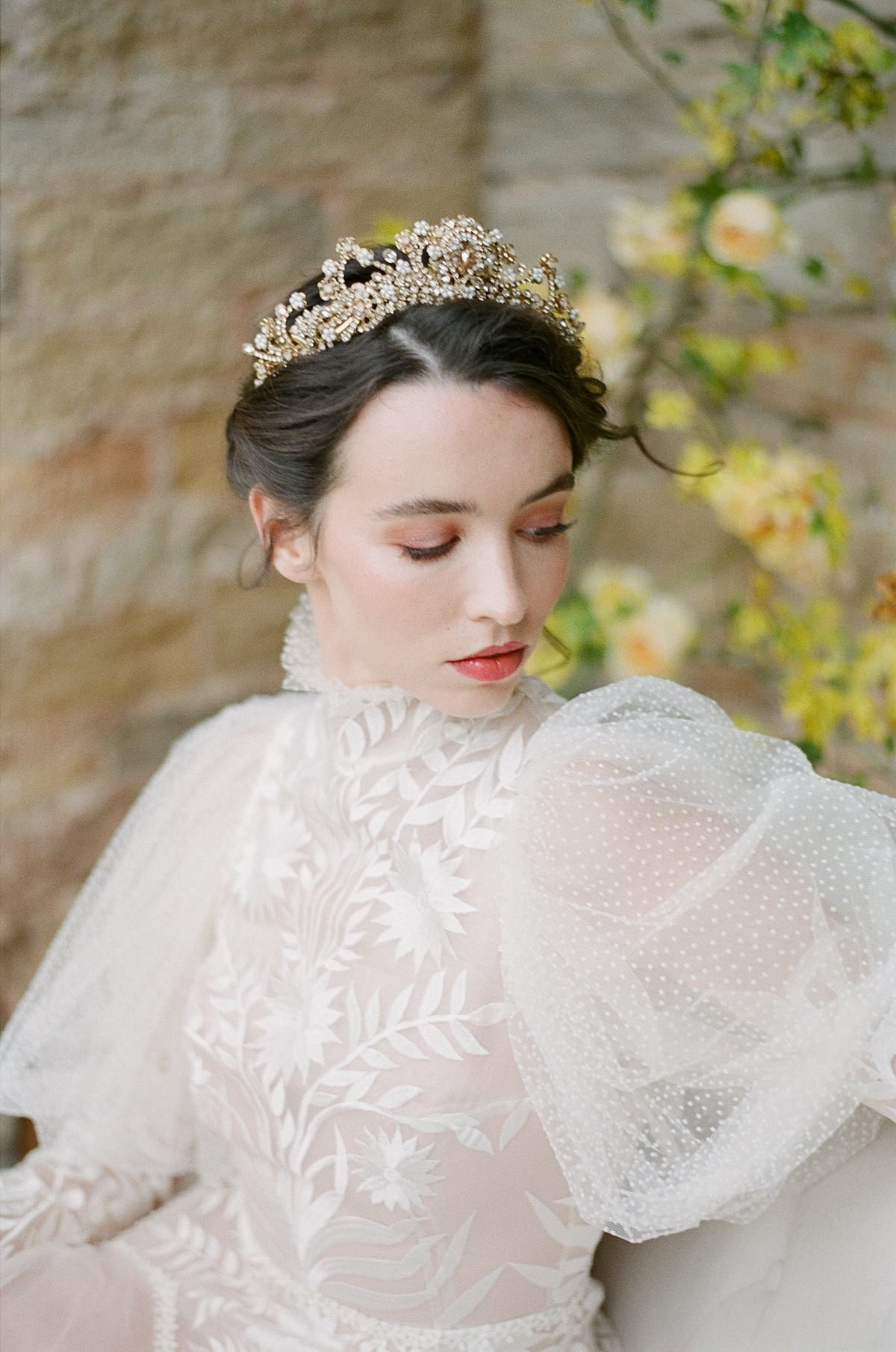 Helianthus-high-neck-puff-sleeve-wedding-dress-JoanneFlemingDesign-CelineChhuonPhoto (32)_WEB