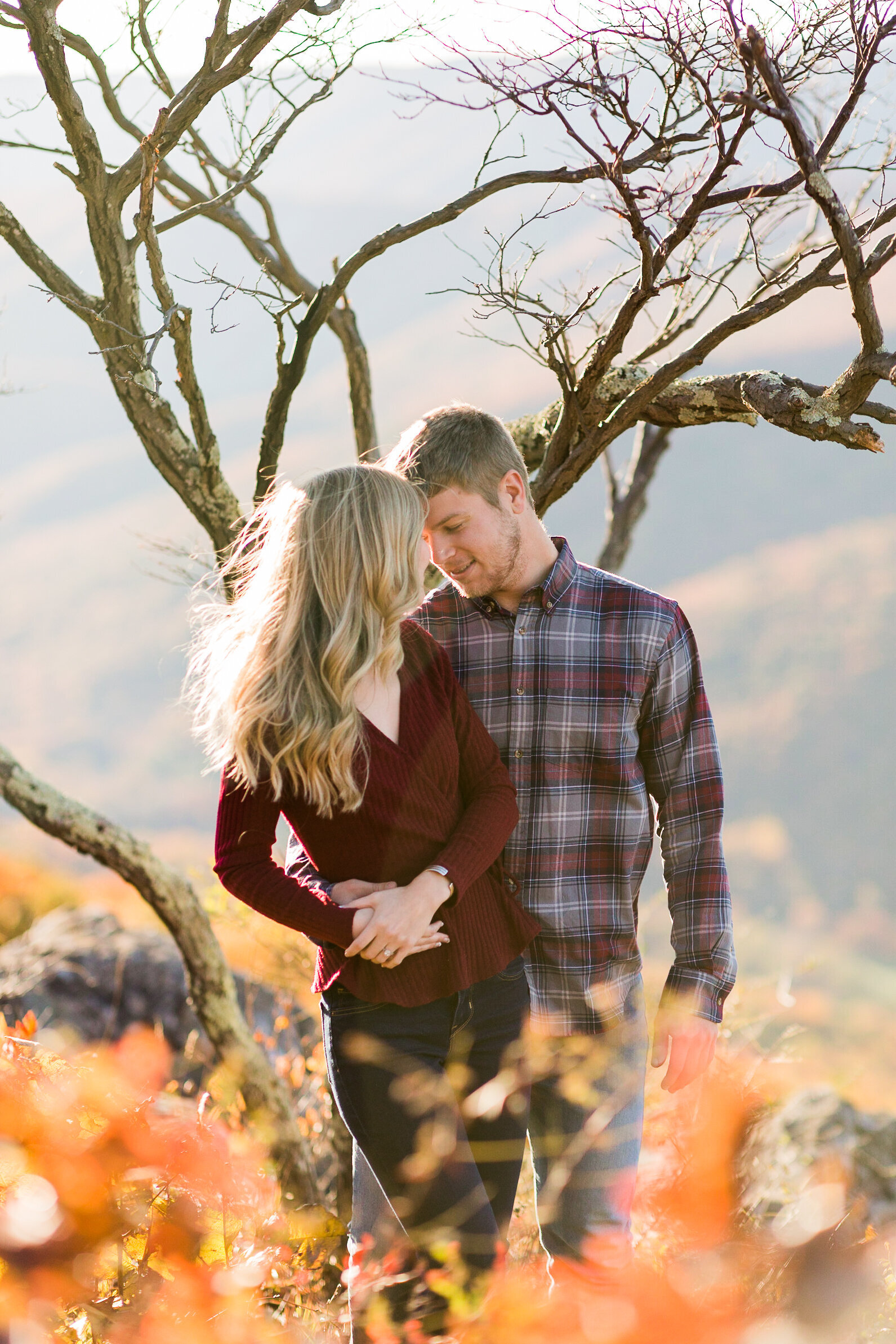 Fall Mountain Engagement Session in the Shenandoah Valley-17