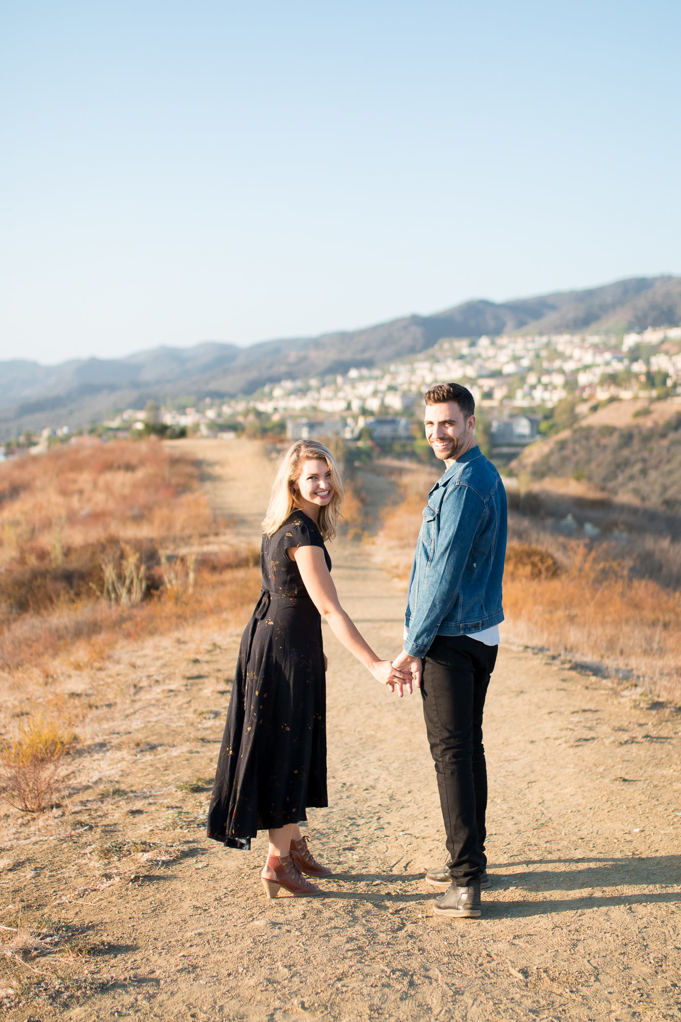 Engagement photos  in mountains for couples