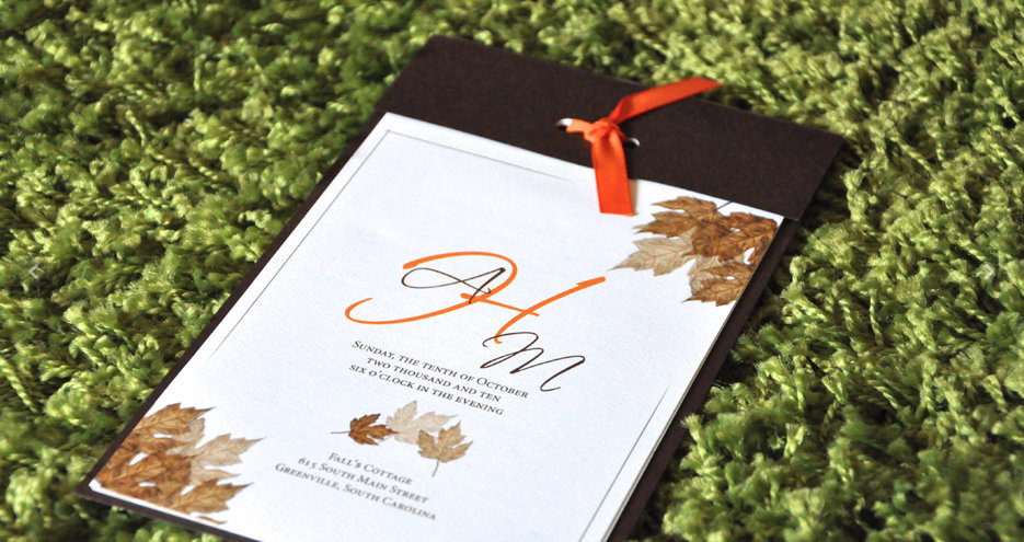 wedding program by Jennifer Pellin