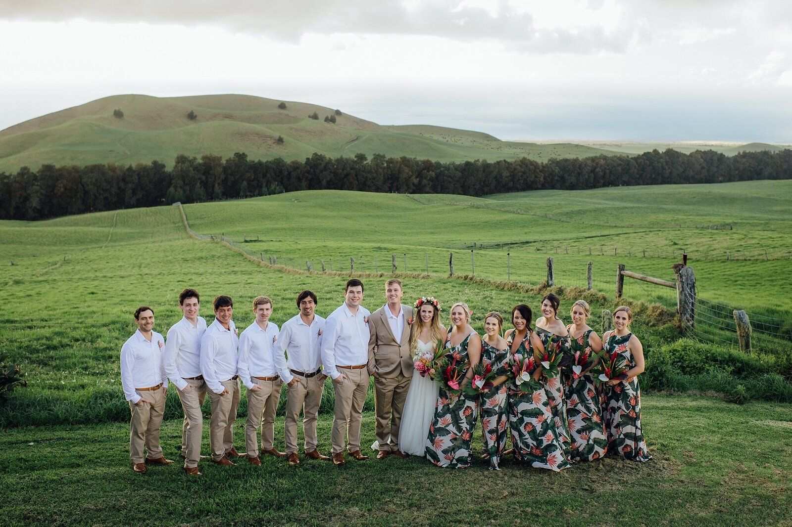 kahua ranch wedding party
