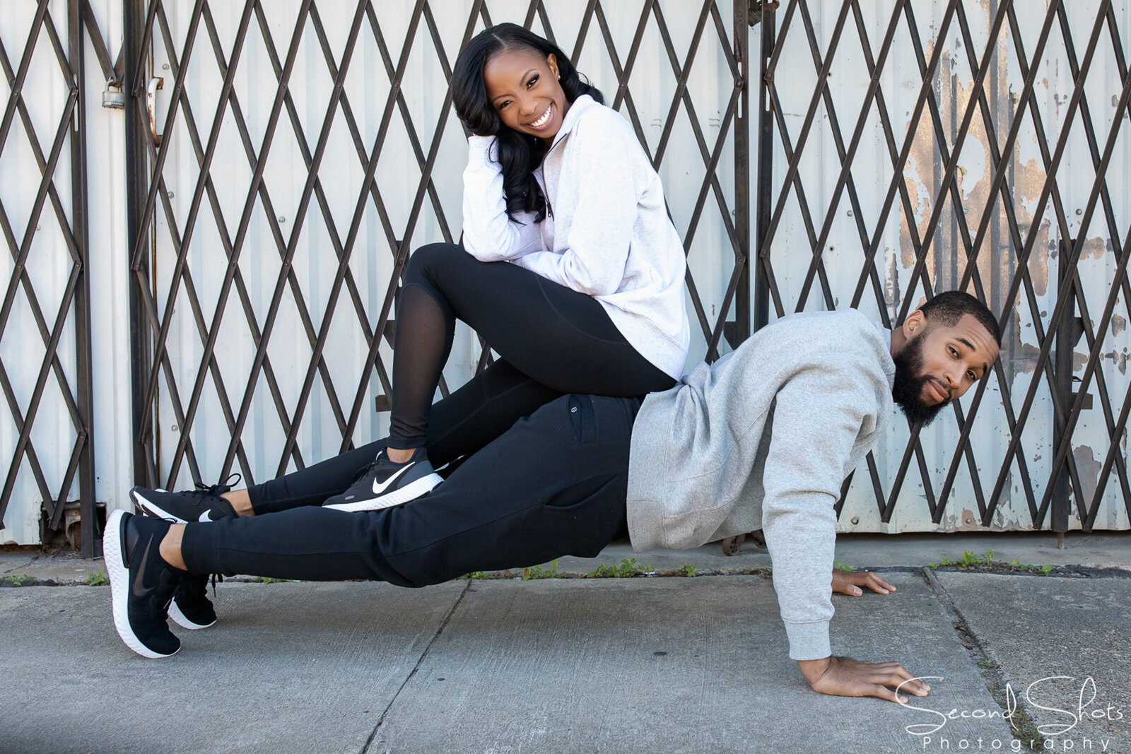 123 Fitness Themed Engagement Photos