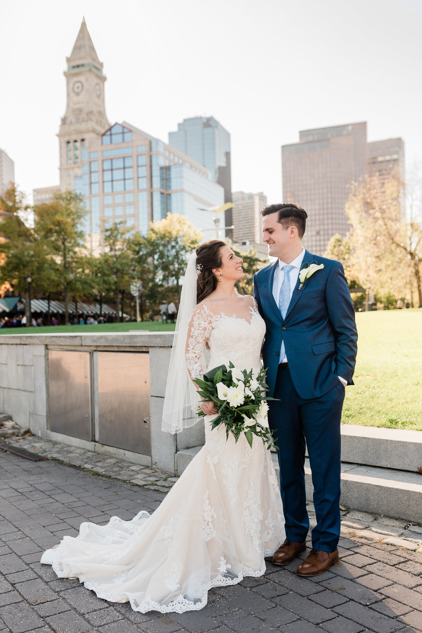 Downtown Boston wedding Custom house tower