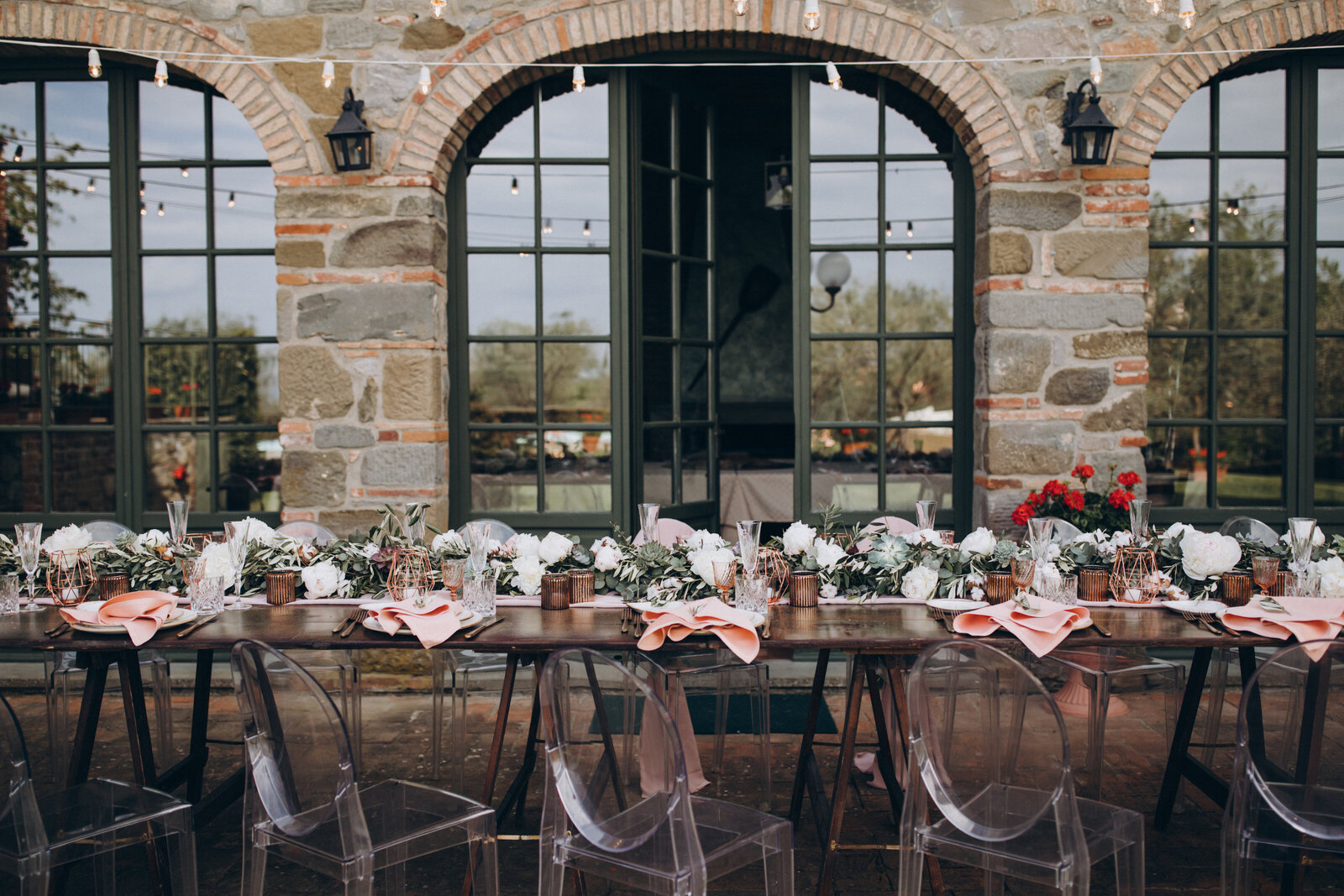 table setting rustic pink wedding planner