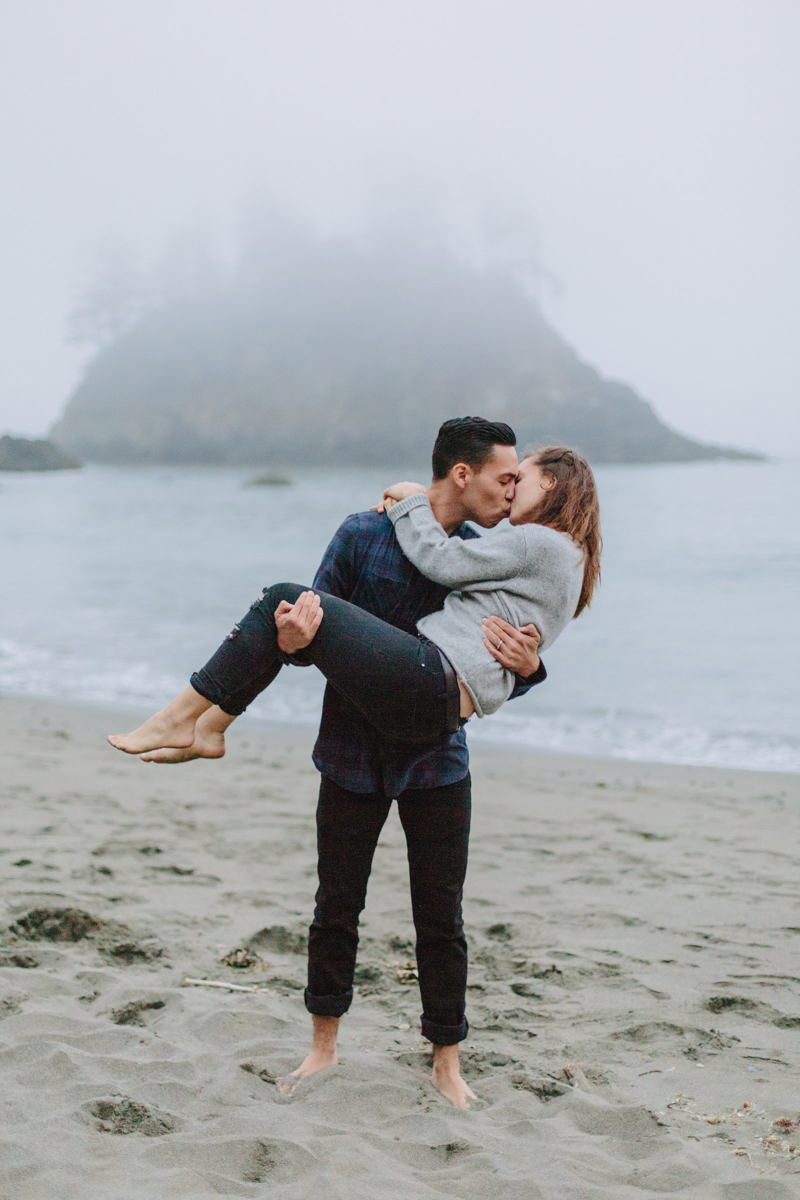 Redwood National Park Avenue of the Giants Engagement Session -7782