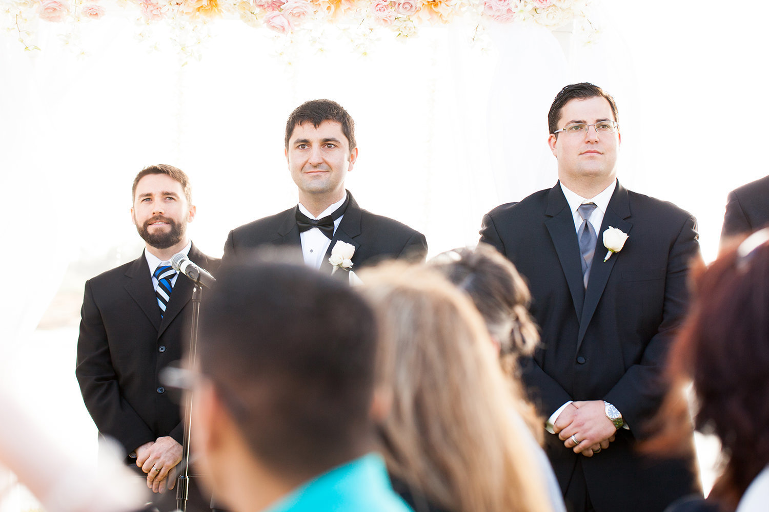 groom when bride is walking down the aisle