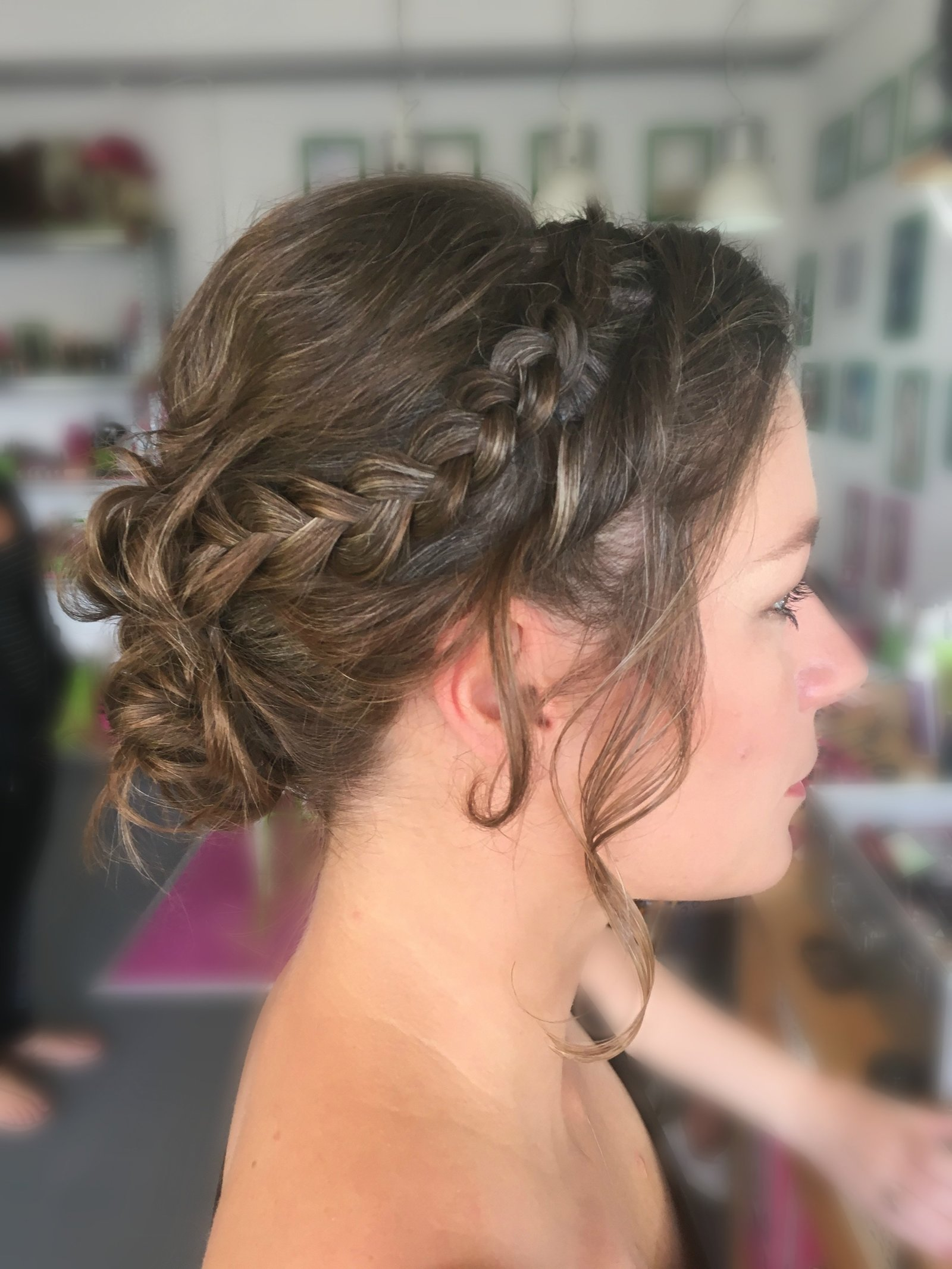 updo braid guest blur