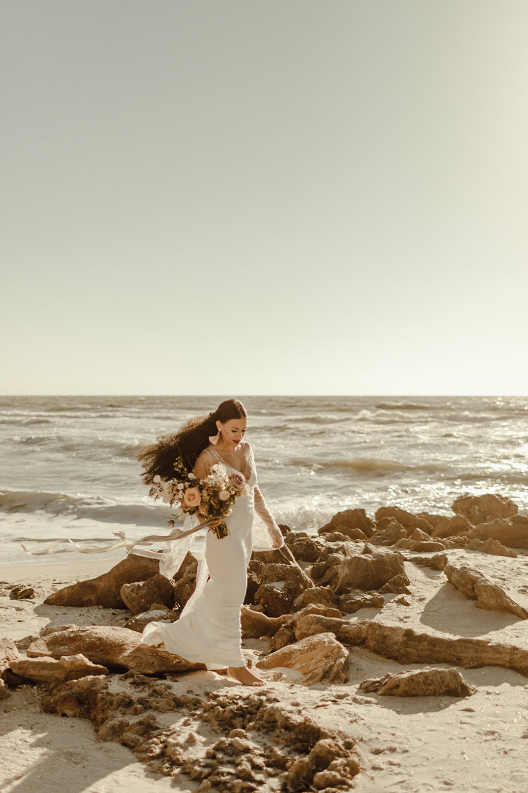Celestial wedding inspiration_ beach elopement style-91