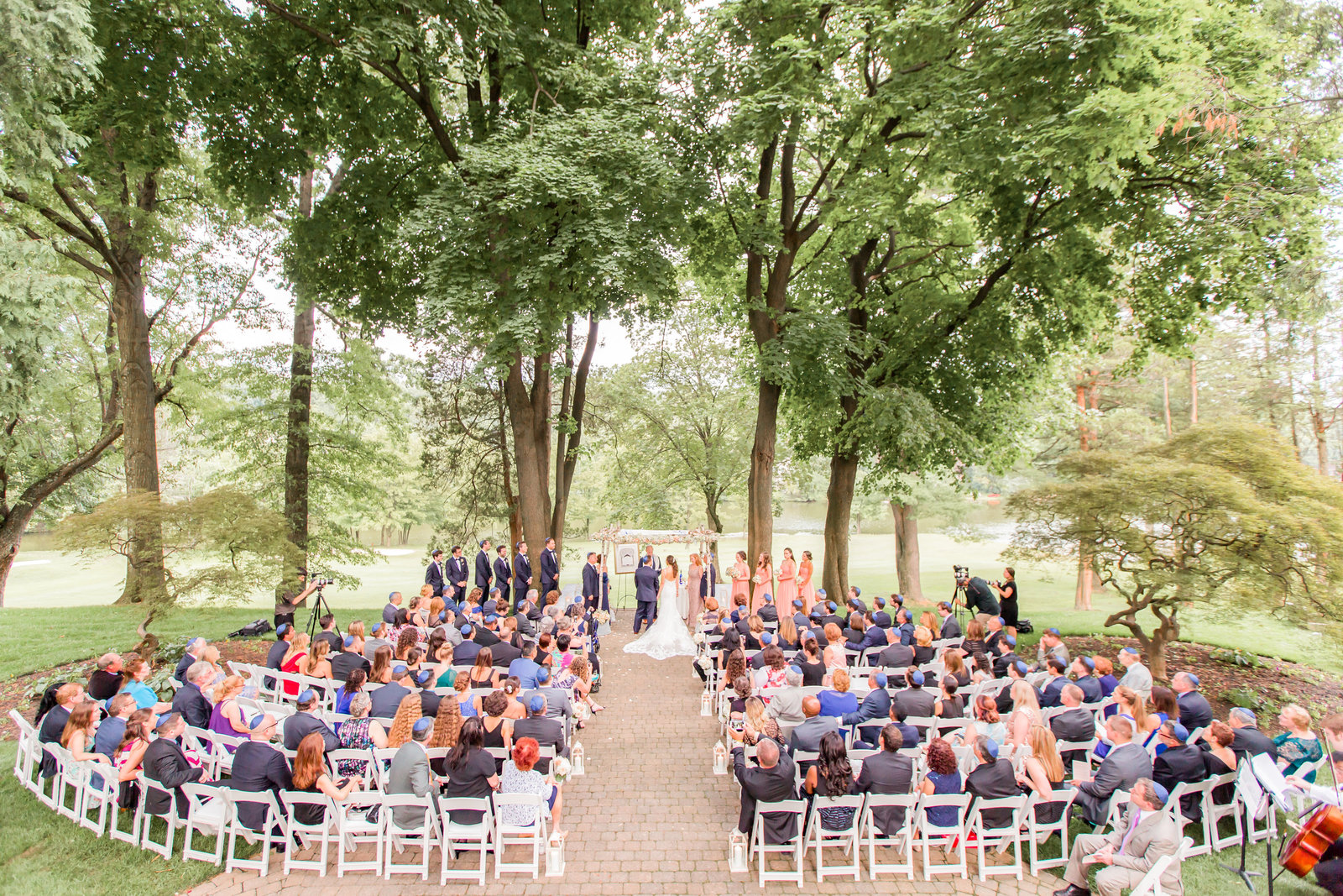Outdoor garden wedding at Ramsey Golf and Country Club