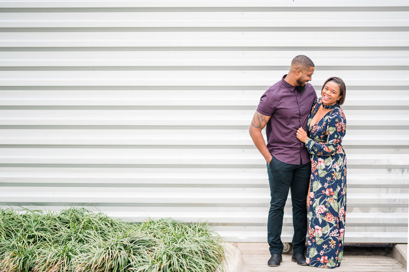 Trinity Grove Dallas Engagement Shoot Winter Downtown 013