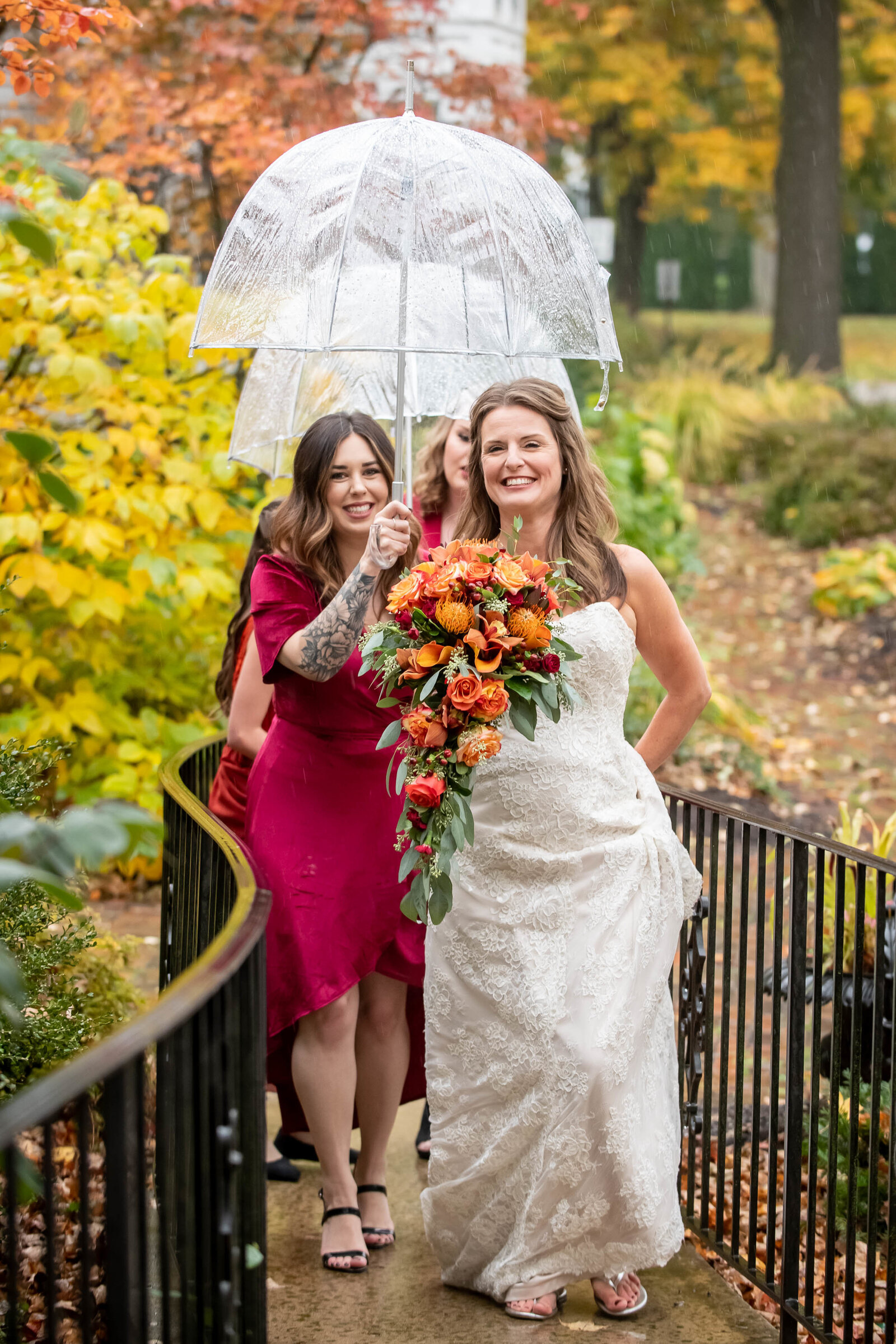 wedding-wayne-bride-bridesmaids-rain