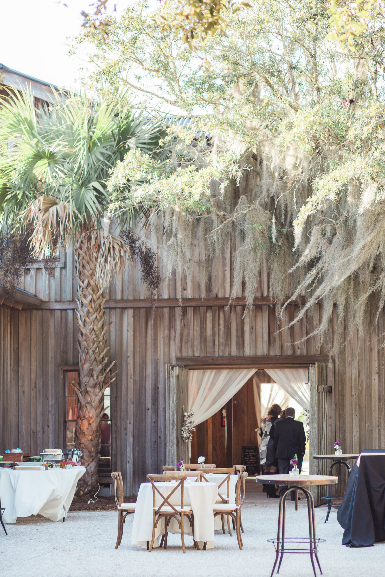 Cotton Dock is set up for reception, Boone Hall Plantation, Charleston, South Carolina